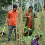 Aswin and his family volunteer for planting trees
