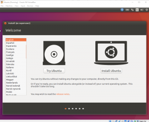 Try or Install Ubuntu