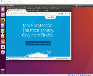 Firefox running on Ubuntu 16.04 Desktop