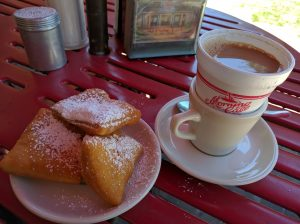 Beignets and Cafe Au Laite at Morning Call