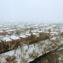 Snowfall over houses in Mississauga